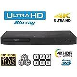 LG UHD 4K Region Free Blu Ray Disc DVD Player - PAL NTSC Ultra HD - USB - 100-240V 50/60Hz for World-Wide Use & 6 Feet Multi