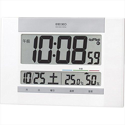 セイコー 温・湿度表示付電波時計 【おき型 置型 卓上 せい...