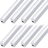 (Pack of 8) LED T5 Integrated Fixture 4FT, 20W, 2200lm, 6500K (Super Bright White),Utility led Shop Light, LED Ceiling Light