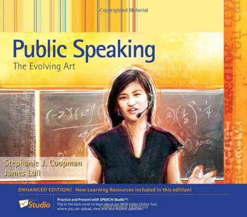 Download Public Speaking: The Evolving Art 0495798525