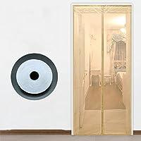 DULPLAY アンチモスキート 網戸 マグネット式,フレームの velcro 換気 ホーム メッシュ カーテン 画面 ベッド パーティション パンチ無料 -C 100x220cm(39x87inch)