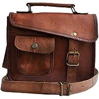 Jaald- Men's Genuine Distressed Leather Messenger Bag Brown Satchel for Women Shoulder Bag Murse Cross Body Purse