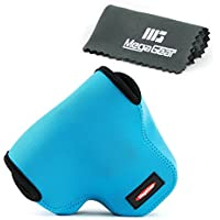 MegaGear ''Ultra Light'' Neoprene Camera Case Bag for Olympus OM-D E-M1 with 12-40mm (Blue) [並行輸入品]