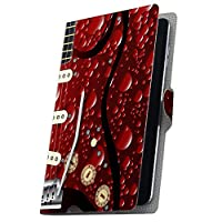 タブレット 手帳型 タブレットケース タブレットカバー カバー レザー ケース 手帳タイプ フリップ ダイアリー 二つ折り 革 ギター 楽器 005516 Fire HDX Amazon アマゾン Kindle Fire キンドルファイア FireHDX firehdx-005516-tb