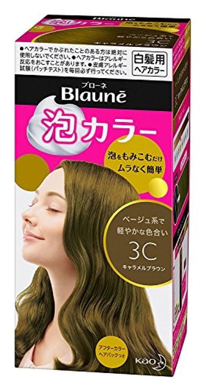 繁栄メイトバラ色【花王】ブローネ泡カラー 3C キャラメルブラウン 108ml ×20個セット