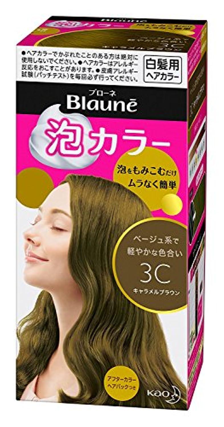 スライス中間スイ【花王】ブローネ泡カラー 3C キャラメルブラウン 108ml ×5個セット