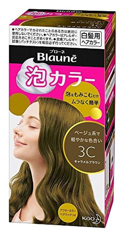 昇る首広告【花王】ブローネ泡カラー 3C キャラメルブラウン 108ml ×20個セット