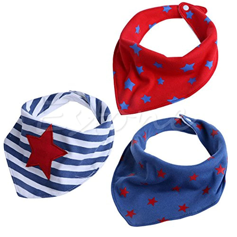 5 # Cool Star 3pcsベビーガールズボーイズキッズ三角形ヘッドスカーフBandana Bibs SalivaタオルDribble