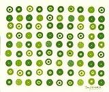 イーオクト 水切りスポンジマット キャンディ グリーン柄 WX141118
