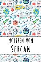 Notizen von Sercan: Liniertes Notizbuch fuer deinen personalisierten Vornamen