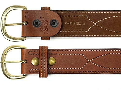 ビアンキb9Fancy Stitchedベルトタン真鍮バックル