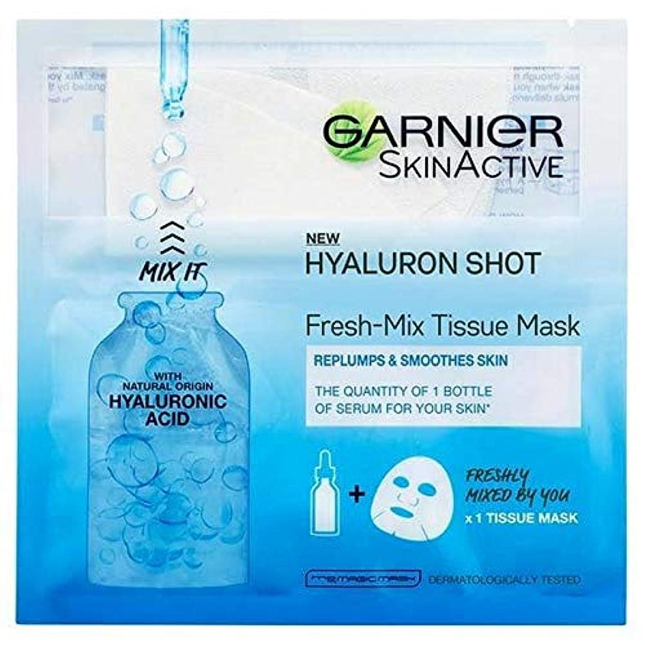 天気人形視力[Garnier] ヒアルロン酸とガルニエ新鮮なミックスフェイスシートショットマスク - Garnier Fresh-Mix Face Sheet Shot Mask with Hyaluronic Acid [並行輸入品]