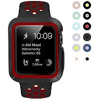 BRG apple watch バンド とapple watchケース のセット apple watch series3/2/1 用のアップルウォッチバンドとアップルウォッチ ケースのセット (42mm,黒/レッド)