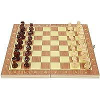 Asixx 木製 チェスセット 折りたたみ 軽量 持ち運び便利 携帯型 パーティー 知育玩具 家族 友達 ギフト 2サイズ