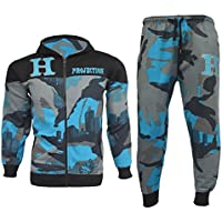 Kids Tracksuit Boys HNL Camouflage Hoodie Bottom Joggers Jogging Suit 7-13 Years