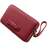 Katech Ladies Purse Wallet Women Large Capacity Fashion Phone Bag with Wrist Strap