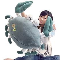 ぬいぐるみ 抱きまくら おもちゃ カニちゃん 動物 可愛い ふわふわ もちもち やわらか クッション 癒し系 お祝い ギフト グリーン