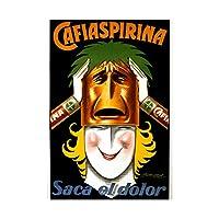 Ad Medicine Aspirin Bayer Argentina Woman Mask Smile Wall Art Print アルゼンチン女性マスク壁