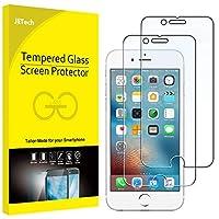 JEDirect iPhone6 iPhone6s 用液晶保護ガラスフィルム 2枚入り