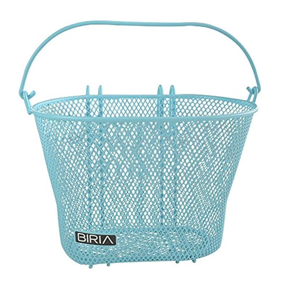 コンピューター鉛マナーフック付きバスケット ブルー フロント 取り外し可能 ワイヤーメッシュ Sサイズ 自転車用バスケット ブルー