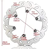 Motorcycle Rear Brake Disc Rotor for Suzuki RM 125 250 1999-2005 DRZ SM 400 2005-2009 DescriptionThis is a Replacement Part for your Rear Brake Rotors ( This is a aftermarket parts,NOT OEM ) ,it can enhance the performing and make it brilliant as well as they used to, it is time to replace and upgrade the Rear Brake Rotors for your bike now !!Fitment:For Suzuki RM 125 99-05For Suzuki RM 250 99-05For Suzuki DRZ SM 400 05-09Specifications:SKU:DBS039WCondition: 100% Brand New.Color: SilverMaterial: