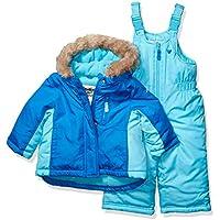 Osh Kosh Baby Girls Ski Jacket and Snowbib Snowsuit Outfit Set, Oxide Blue/Aquarius, 24Mo