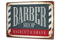 ブリキ看板 Tin Sign Metal plate plaque XXL Nostalgic Barbershop