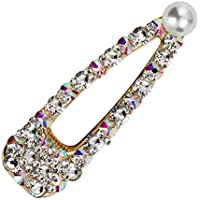 Reiko Spark Pearl Colorful Bobby Pins Fashion Chic Hair Clip Barrette Snap On Slide Clips Headwear for Women Girl