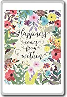 Happiness Comes From Within - Motivational Quotes Fridge Magnet - ?????????
