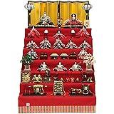 雛人形 十五人揃七段飾り 京九番(15人) 幅105cm 183to2073 小出松寿 名匠