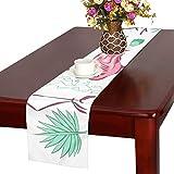 GGSXD テーブルランナー すばしこい フラミンゴ クロス 食卓カバー 麻綿製 欧米 おしゃれ 16 Inch X 72 Inch (40cm X 182cm) キッチン ダイニング ホーム デコレーション モダン リビング 洗える