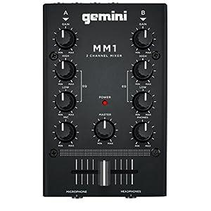 GEMINI DJ ミキサー ポータブル 2ch ステレオミキサー MM1