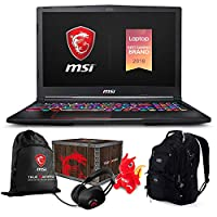 "MSI GE63 Raider RGB-051 Premium Gaming Laptop (Intel i7-8750H, 16GB RAM, 4TB Sata SSD, 15.6"" FHD 1920x1080 IPS Display, RTX2080, Win 10 Pro) VR Ready with MSI Loot Box and ME2 Backpack"