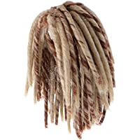 Perfk 18インチドール ウィッグ かつら 人形用 編み髪 アメリカンガールドール用 交換 全2色 - ブラウン