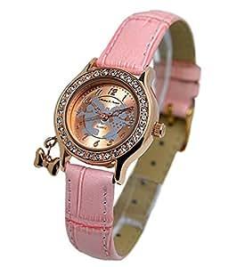 ディズニー Disney ミッキー&ミニー 腕時計 NFC130514 ピンクベルト×クリスタル石[並行輸入品]