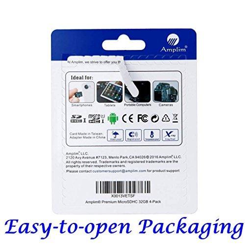 『32GB Micro SD Card x4 Pack Plus Adapter (Class 10 UHS-I MicroSDHC Extreme Pro Memory) 32 GB Ultra High Speed 90MB/s 600X UHS-1 Microsd SDHC. Amplim Cell Phone Tablet Flash (Quad 32G Performance TF G5) [並行輸入品]』の2枚目の画像