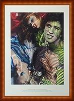 ポスター マリオ テスティーノ VISIONAIRE(ヴィジョネアー)Gucci/グッチ 額装品 ウッドハイグレードフレーム(ナチュラル)