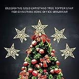 スター装飾 スター・オーナメント スターデコレーション クリスマスツリー装飾 ツリートッパー装飾 飾り 高品質 プラスチック材料製(18cm-01)