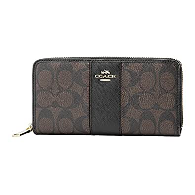 [コーチ] COACH 財布 (長財布) F52859 ブラウン×ブラック IMAA8 シグネチャー 長財布 レディース [アウトレット品] [並行輸入品]