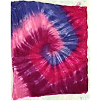 Bamboo Swaddle Blanket - Pink and Purple Tie Dye by Austin Tie Dye Co