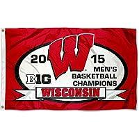 Wisconsin Badgers 2015 Big 10 Champsロゴフラグ