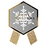 クリスマスシール 布リボン仕様 1シート5枚 サイズ:横40mm×縦46mm、リボン長さ20mm ch