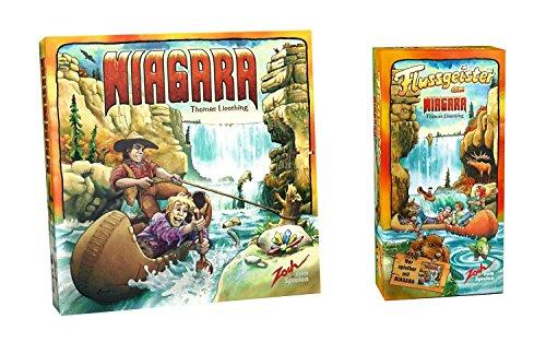 ナイアガラ + 拡張セット 川の精 バンドル (Niagara: Flussgeister am Niagara) ドイツ語版 日本語ルール付 ボードゲーム