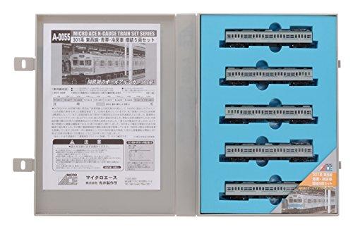 Nゲージ A0055 301系 東西線 青帯・冷房車 増結5両セット
