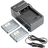 DSTE® アクセサリーキット Nikon EN-EL19 互換 カメラ バッテリー 2個+充電器キット対応機種 Coolpix S3100 S3200 S3400 S3500 S4300 S4400 S5200 S6500 S6600