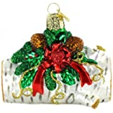 Old World Christmas Ornaments: Yule Log Glass Blown Ornaments for Christmas Tree