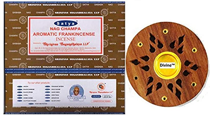 フィラデルフィア分配します十Satya Nag Champa Aromatic Frankincense Incense Sticks -12Packs x 15g (180g)