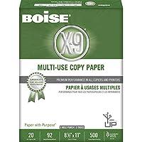Boise X-9Expect More 多目的用紙 3穴パンチレター、20ポンド、92ブライト、500枚10リーム