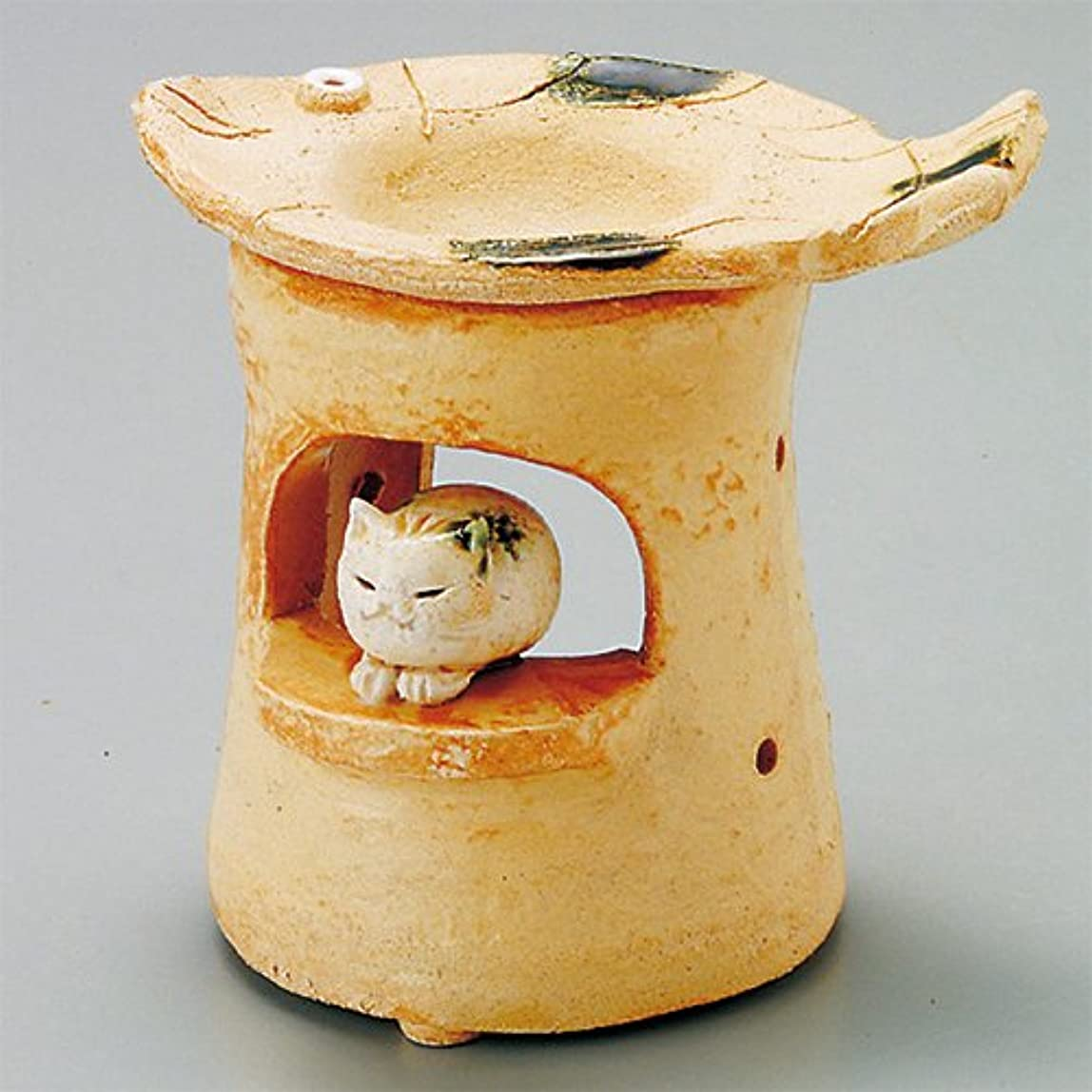 トランスミッションする非互換島ねこ 島ねこ 茶香炉 [12x8.5xH11.5cm] HANDMADE プレゼント ギフト 和食器 かわいい インテリア