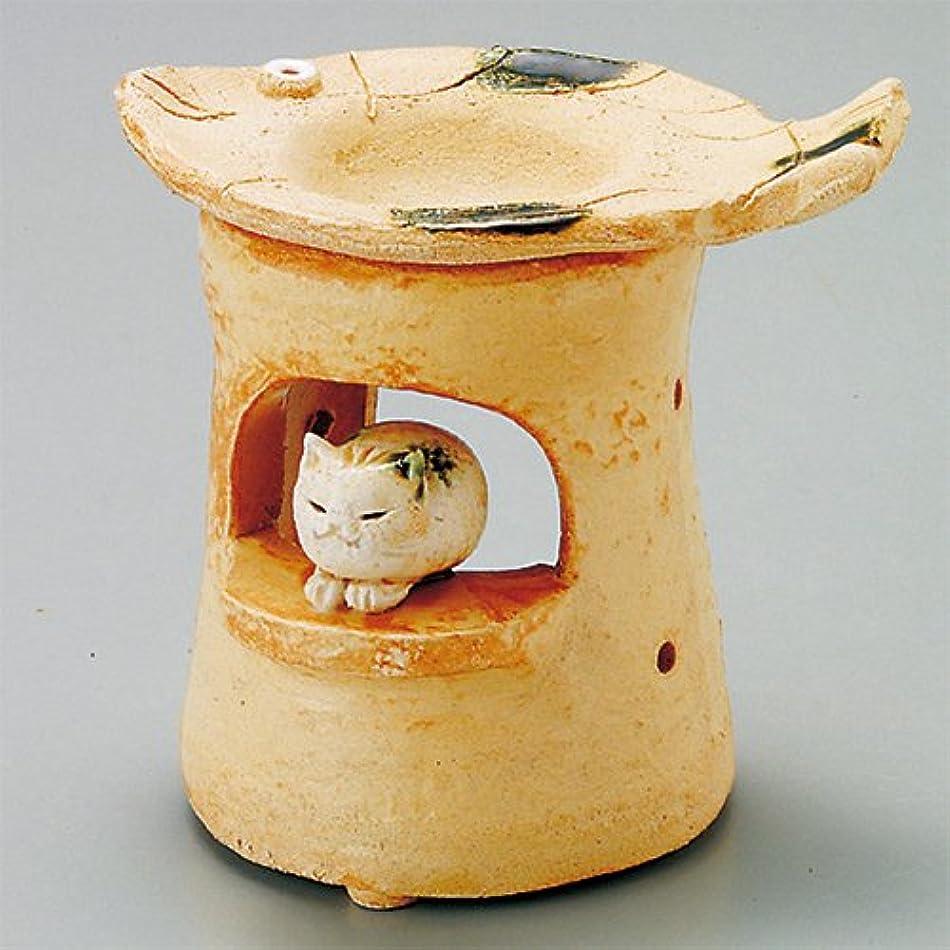 眉徴収パーク島ねこ 島ねこ 茶香炉 [12x8.5xH11.5cm] HANDMADE プレゼント ギフト 和食器 かわいい インテリア